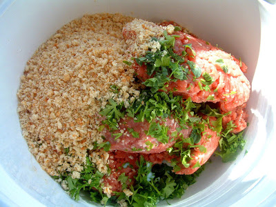 I Have Ground Beef Pork And Veal Homemade Breadcrumbs Fresh Chopped Marjoram You Can Use Dried Thyme Parsley Not It