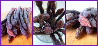 Fillet of Beef (Steak) au Poivre and Purple Asparagus, at a