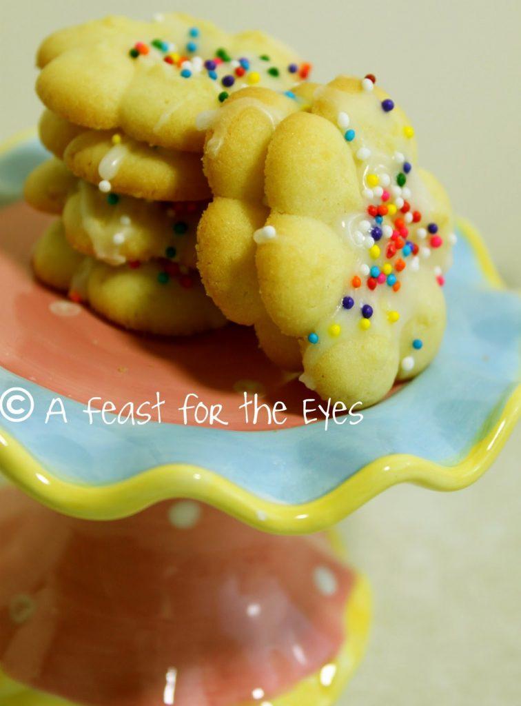 Italian Style Easter Cream Cheese Spritz Cookies