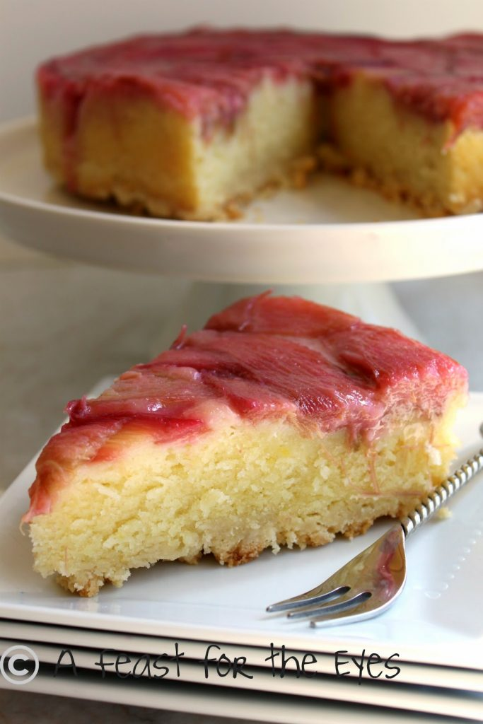 Rhubarb Upside Down Cake A Feast For The Eyes