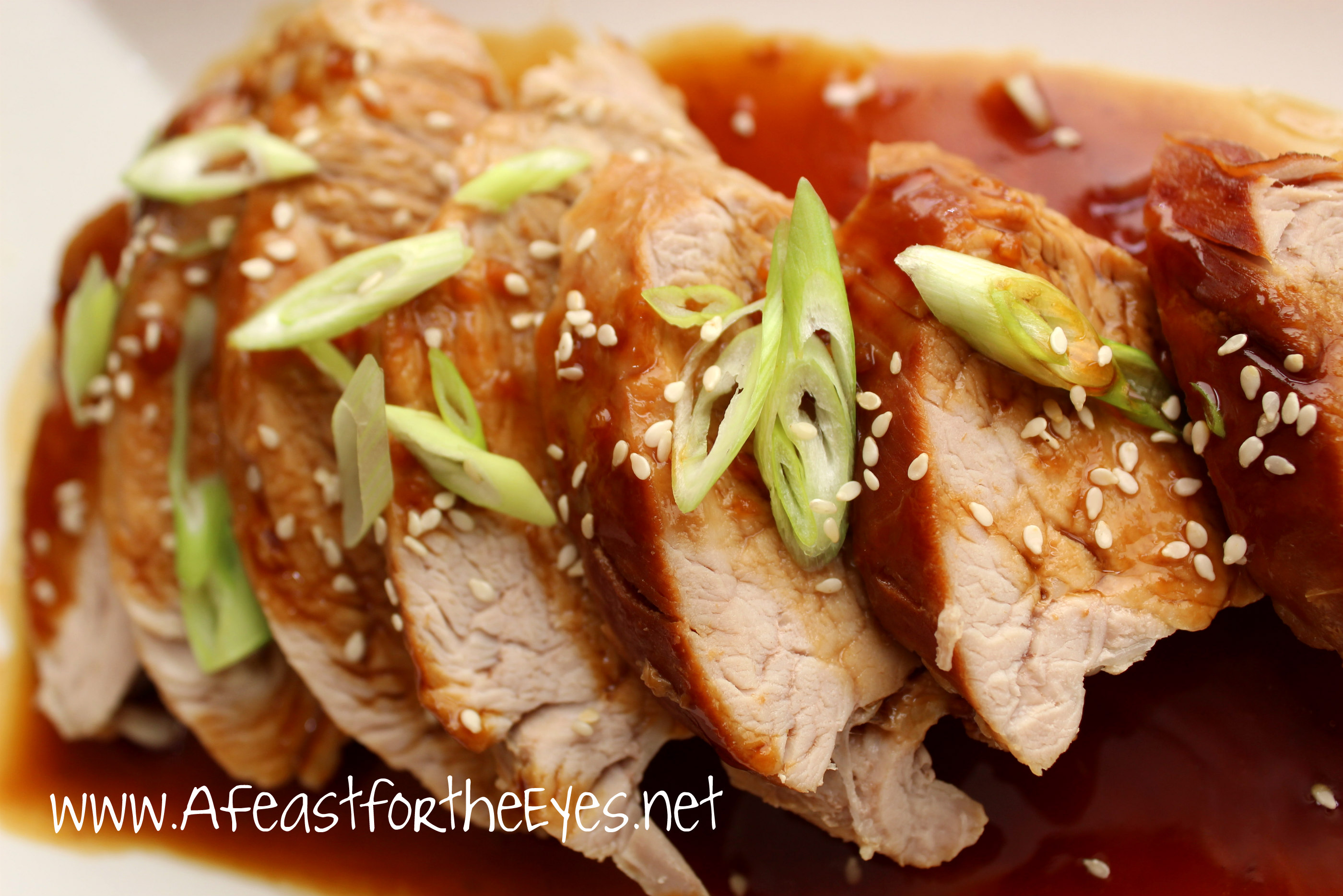 Instant Pot Asian Pork Tenderloin With A Honey Soy Glaze Sauce A Feast For The Eyes
